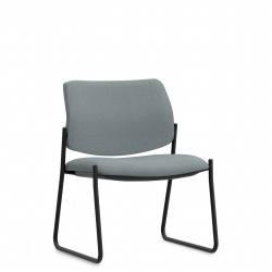 Low Back Concealed Attachment Mid Size Side Chair, Sled Base Model Thumbnail