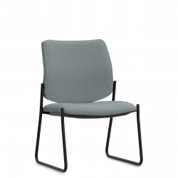 High Single Piece Back Mid Size Side Chair, Sled Base Model Thumbnail